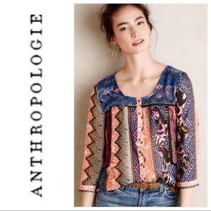 Anthro Vanessa & Virginia Patch Print Blouse